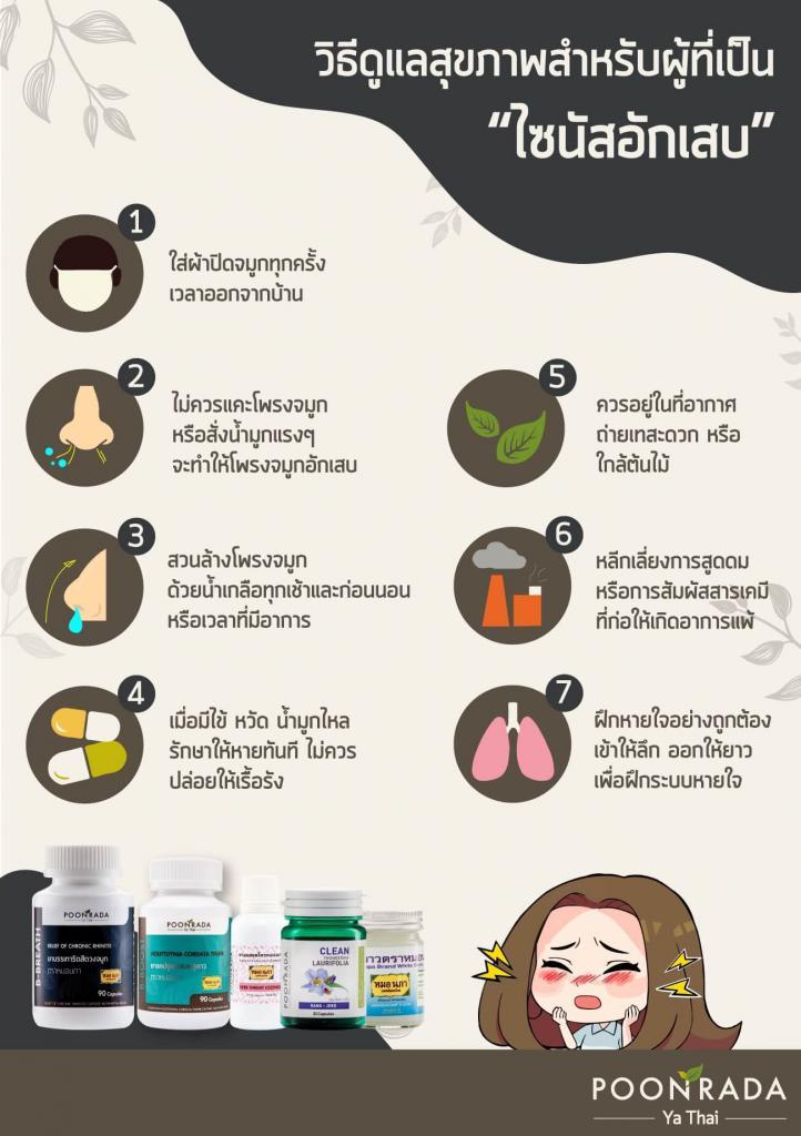 วิธีดูแลสุขภาพผู้เป็นไซนัสอักเสบ