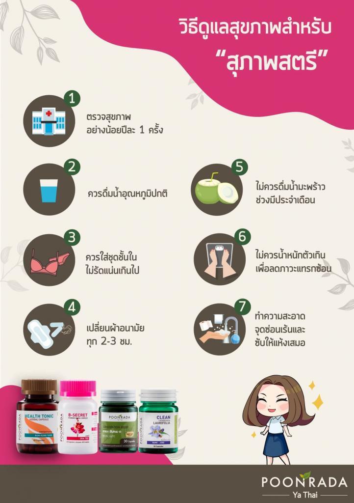 วิธีดูแลสุขภาพสุภาพสตรี