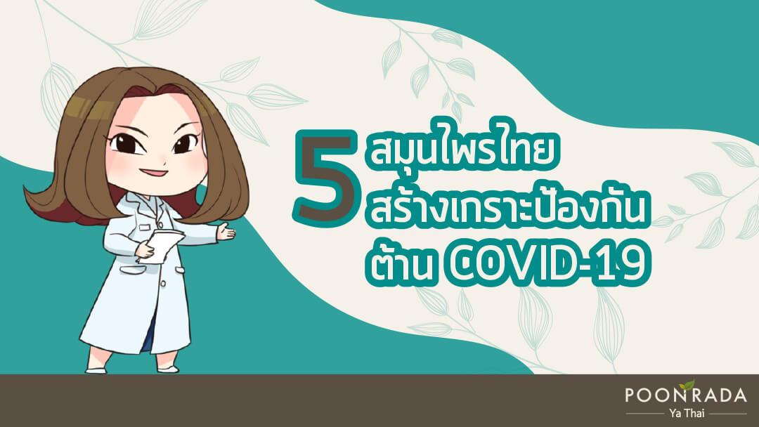 5 สมุนไพรไทย สร้างเกราะป้องกัน ต้านCOVID-19